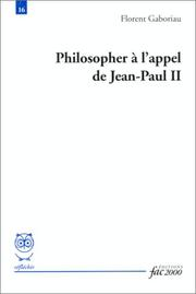 Cover of: Philosopher à l'appel de Jean-Paul II