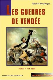 Cover of: Les guerres de Vendée