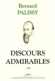 Cover of: Discours admirables