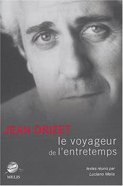 Cover of: Jean Orizet