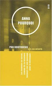 Cover of: Anna pourquoi