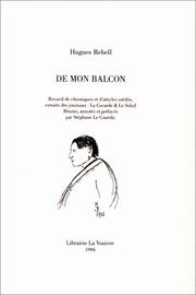 Cover of: De mon balcon