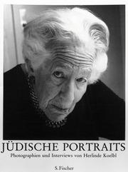 Cover of: Jüdische Portraits. Photographien und Interviews