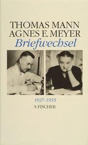 Cover of: Die Briefe Thomas Manns: Regesten und Register
