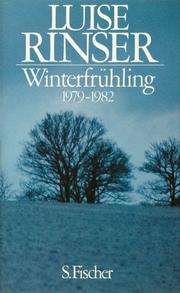 Cover of: Winterfrühling, 1979-1982