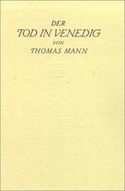 Cover of: Der Tod in Venedig: Novelle