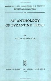 Cover of: An anthology of Byzantine prose