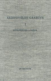 Cover of: Aristoteles Graecus
