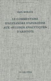 "Cover of: Le commentaire d'Alexandre d'Aphrodise aux ""Seconds analytiques"" d'Aristote"
