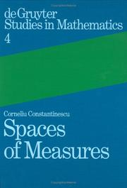 Cover of: Spaces of measures