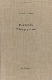 Cover of: Paul Tillich's philosophy of art