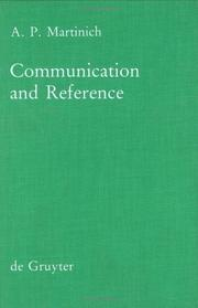 Cover of: Communication and reference | Aloysius Martinich