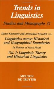 Cover of: Linguistic Theory and Historical Linguistics (Selected Writings / Roman Jakobson)