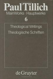 Cover of: Theological Writings/Theologische Schriften