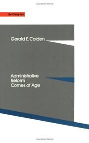 Cover of: Administrative reform comes of age | Gerald E. Caiden