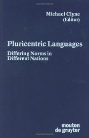 Cover of: Pluricentric Languages | Michael Clyne