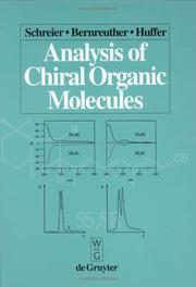 Cover of: Analysis of chiral organic molecules