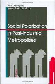 Cover of: Social Polarization in Post-Industrial Metropolises |