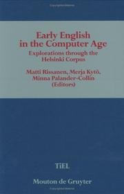 Cover of: Early English in the computer age
