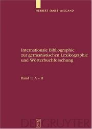 Cover of: Internationale Bibliographie zur germanistischen Lexikographie und Worterbuchforschung: Band 1