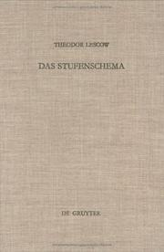 Cover of: Das Stufenschema
