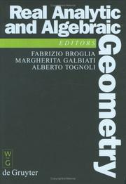 Cover of: Real analytic and algebraic geometry |