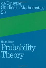 Cover of: Probability theory