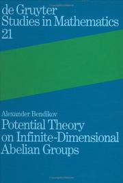 Cover of: Potential theory on infinite-dimensional Abelian groups