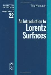 An introduction to Lorentz surfaces by Tilla Weinstein