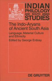 Cover of: The Indo-Aryans of Ancient South Asia | George Erdosy