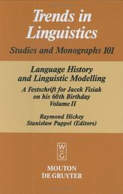 Cover of: Language history and linguistic modelling |