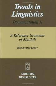 Cover of: reference grammar of Maithili | Ramawatar Yadav