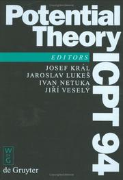 Cover of: Potential theory--ICPT 94