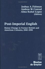 Cover of: Post-Imperial English |