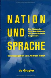 Cover of: Nation Und Sprache