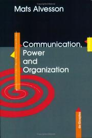 Cover of: Communication, power and organization
