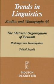 Cover of: The metrical organization of Beowulf