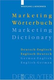Cover of: Marketing Dictionary, German to English and English to German
