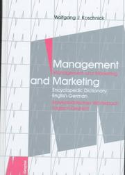 Cover of: Management and marketing