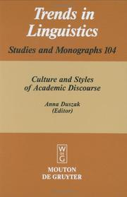 Cover of: Culture and styles of academic discourse |