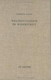 Cover of: Weltdeutungen Im Widerstreit