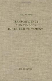Cover of: Transcendency and Symbols in the Old Testament | Seizo Sekine