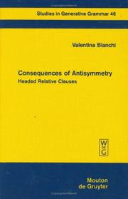 Cover of: Consequences of antisymmetry