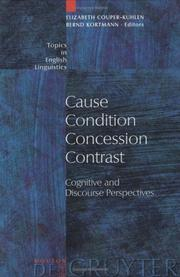Cover of: Cause, Condition, Concession, Contrast |