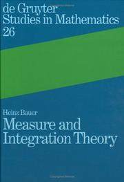 Cover of: Measure and integration theory