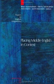 Cover of: Placing Middle English in context |