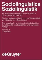 Cover of: Sociolinguistics by