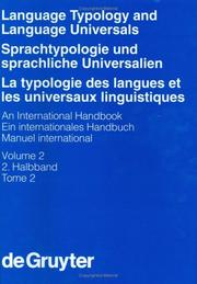 Cover of: Language typology and language universals by