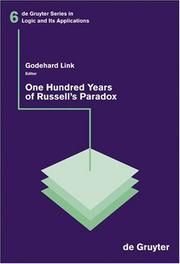 One Hundred Years Of Russell's Paradox by Godehard Link