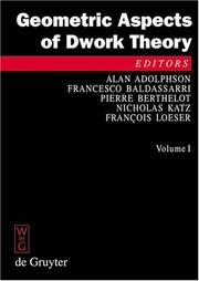 Cover of: Geometric aspects of Dwork theory